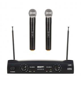 Location double micro HF Power Acoustics WM 4400 MH UHF GR3 - vue d'ensemble - Xl Sono