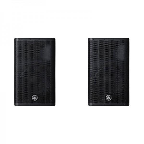 Location paire d'enceintes amplifiées Yamaha DRX15 - vue de face - Xl Sono