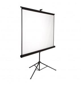 Location écran de projection 2m x 2m + pied - vue de coté - Xl Sono