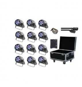 Location pack de 12 PAR à LEDs Starway Minikolor - vue d'ensemble - Xl Sono