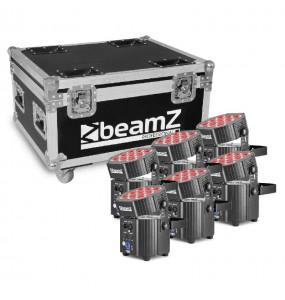 Location pack 6 projecteurs LEDs sur batterie BeamZ - vue d'ensemble - Xl Sono
