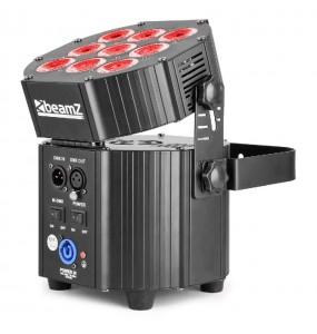 Location pack 6 projecteurs LEDs sur batterie BeamZ - vue de derrière - Xl Sono
