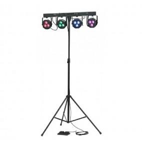 Location rampe de 4 projecteurs cloud night c party color - vue de face - Xl Sono
