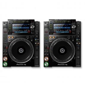 Location pack de 2 platines DJ - Pioneer CDJ2000 nexus - vue dessus - Xl Sono