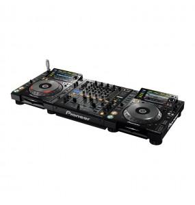 vue de cote - régie Pioneer Professionnel - 2 CDJ 2000 nexus 2 + DJM900 nexus 2