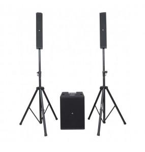 location système son Proel Session 6 - vue de face avec configuration enceinte à part - Xl Sono